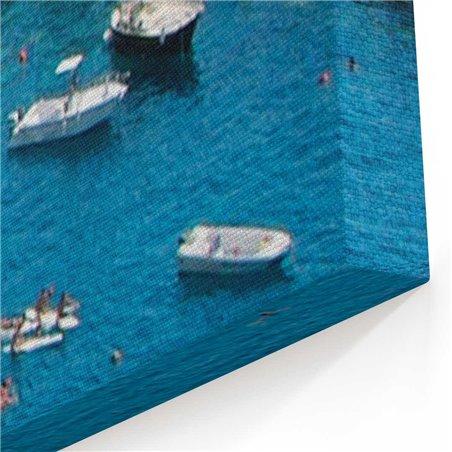 Cinque Terre Kuşbakışı Kanvas Tablo