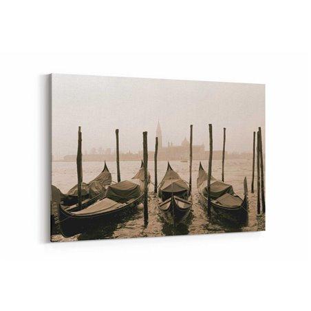 Eski Venedik Kayıkları Kanvas Tablo