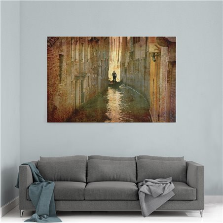 Venedik Geçidi Kanvas Tablo