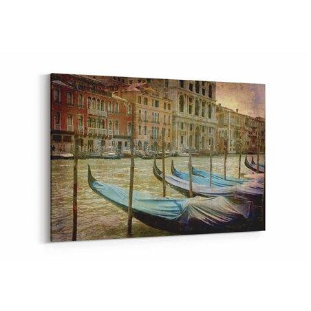 Venedik Evleri Kanvas Tablo