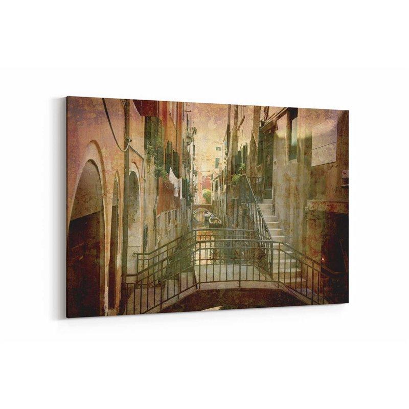 Merdiven Evler Venedik Kanvas Tablo
