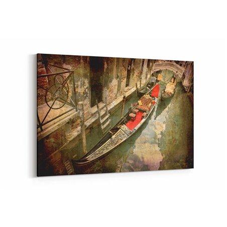 Venedik Kayık Kanvas Tablo