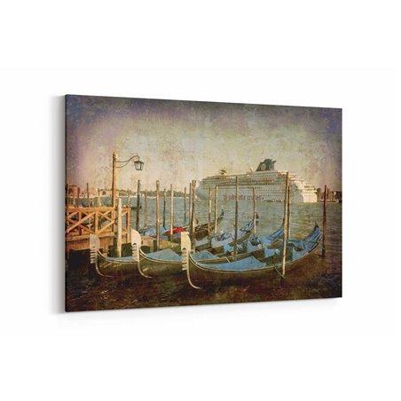 Venedik Yolcu Gemisi Kanvas Tablo