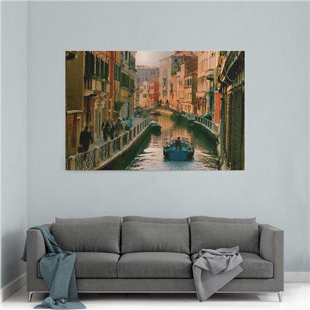 Venedik Yolu Kanvas Tablo
