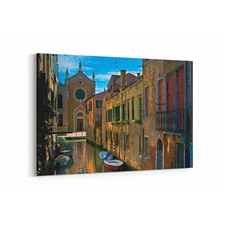 Venedik Renkli Binalar Kanvas Tablo