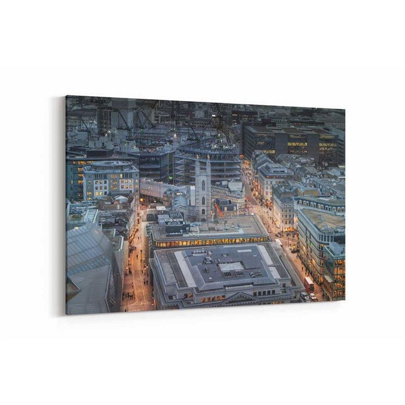 Londra Sokakları Kanvas Tablo