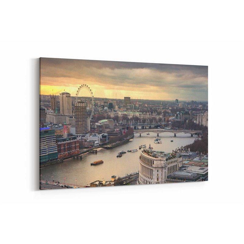 Londra London Eye Kanvas Tablo