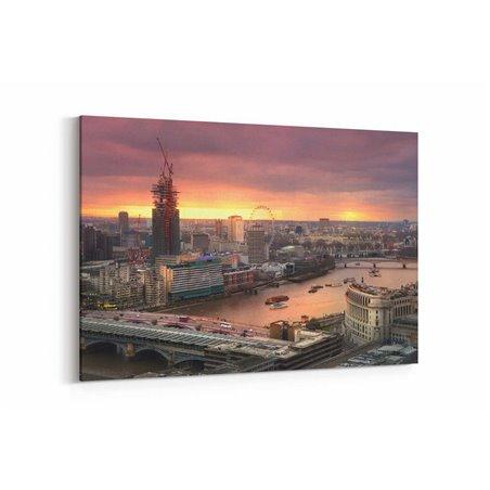 London Eye Gün Batımı Kanvas Tablo