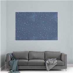 Çizgi Gökyüzü Çocuk Odası Kanvas Tablosu