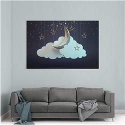 Ay Dede Çocuk Odası Kanvas Tablosu