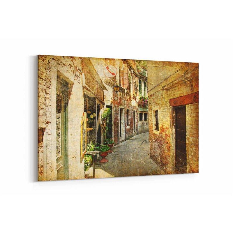 İtalyan Sokakları Kanvas Tablo