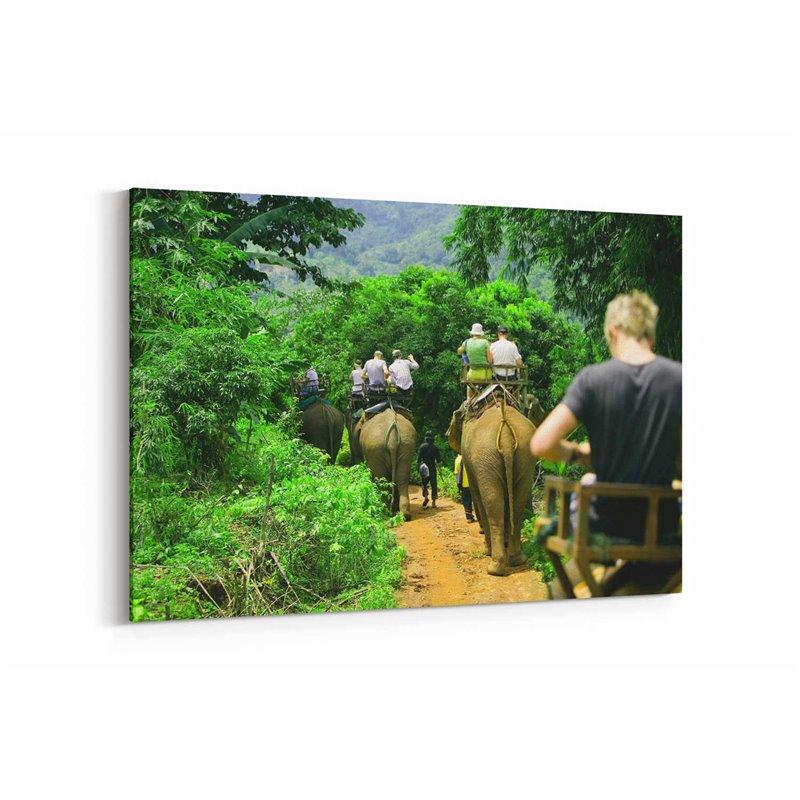 Fil Ormanları Kanvas Tablo