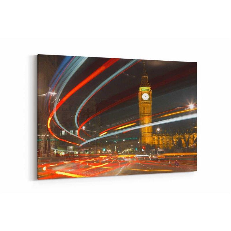Londra Hızlı Trafik Kanvas Tablo