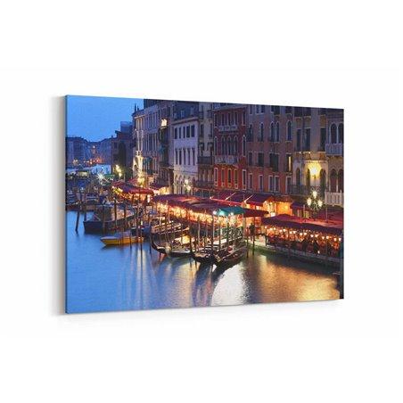 Venedik Akşam Kayıkları Kanvas Tablo