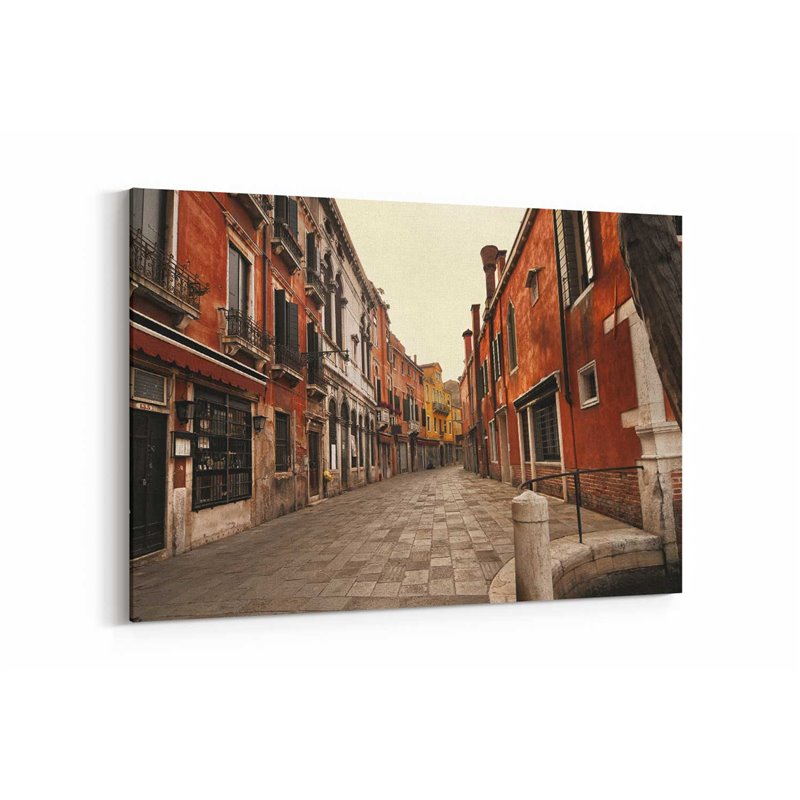 Şehirden Renkli Evler Kanvas Tablo