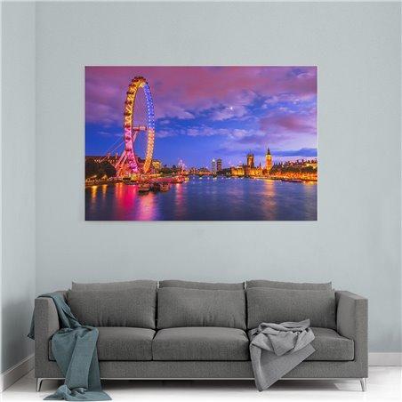 London Eye Kanvas Tablo