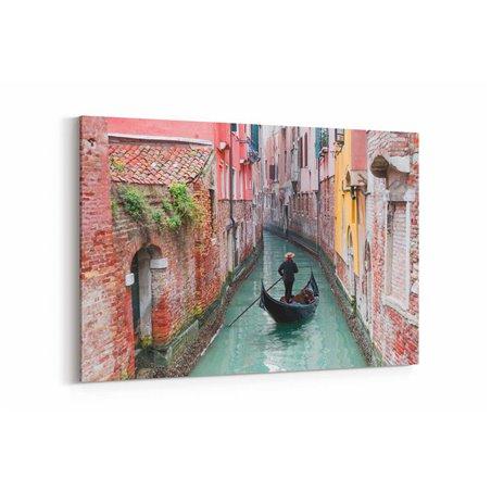 Venedik Kırmızı Evler Kanvas Tablo