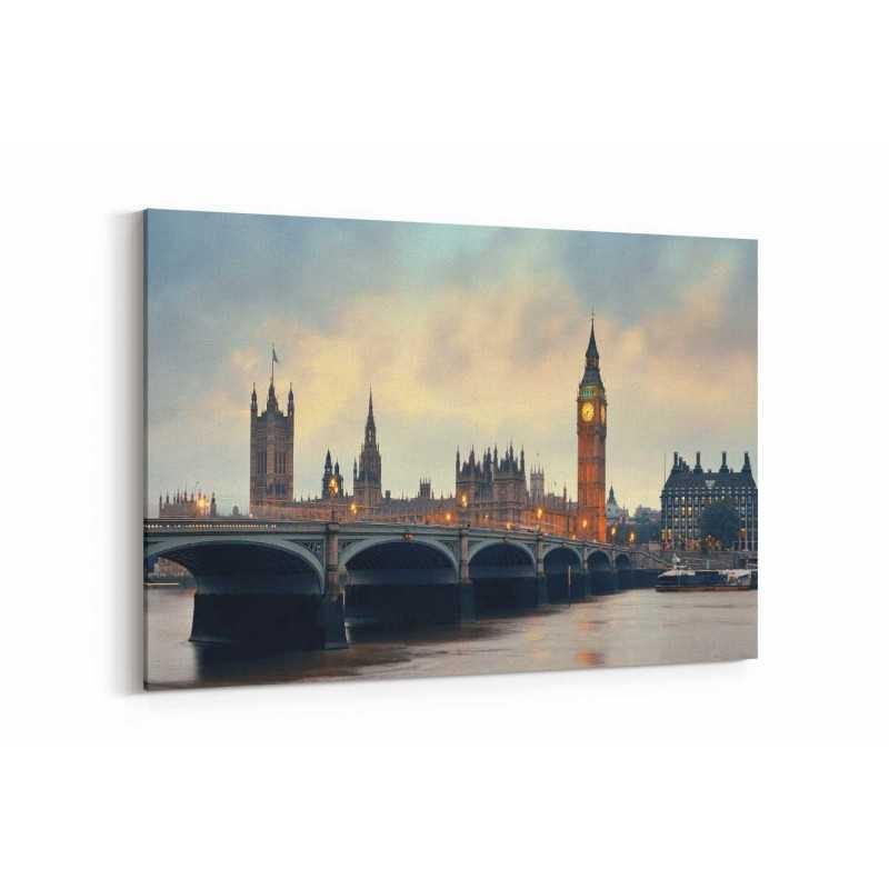 Londra Köprü Görseli Kanvas Tablo