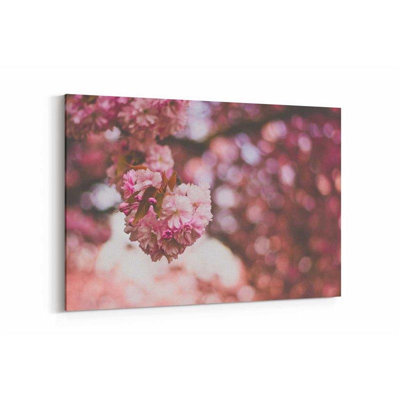 Pembe Çiçek Kanvas Tablosu
