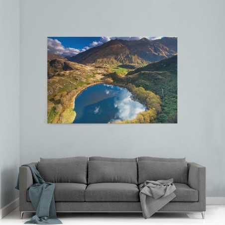 Yeni Zellanda Göl Manzarası Kanvas Tablo