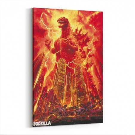 Godzilla Film Afişi Kanvas Tablo