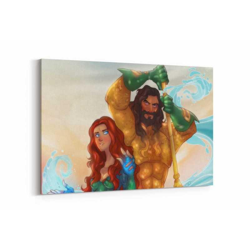 Aquaman Çizim Kanvas Tablo