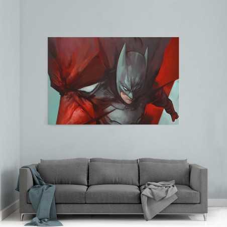 Kırmızı Batman Kanvas Tablo