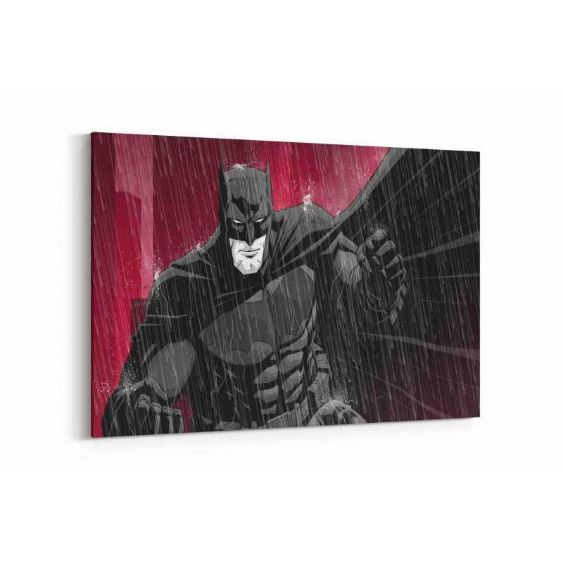 Batman Kırmızı Yağmur Kanvas Tablo