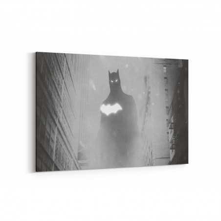 Siyah Beyaz Batman Kanvas Tablo