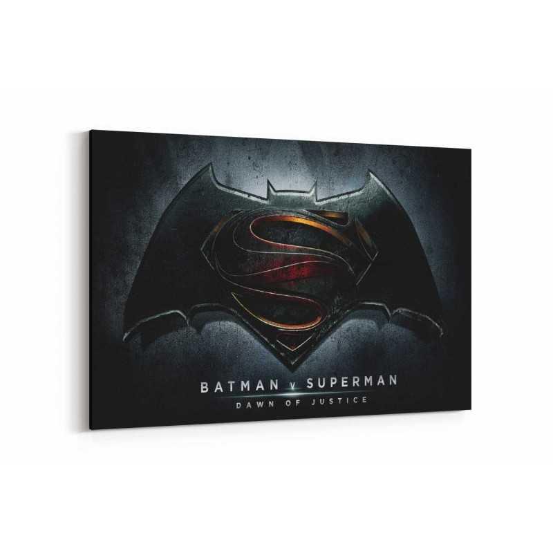 Batman vs Superman Film Afişi Kanvas Tablo