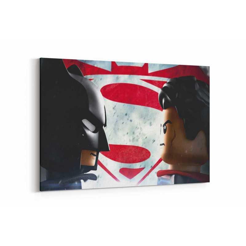 Batman ve Superman Minecraft Kanvas Tablo