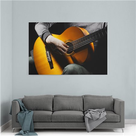 Gitar Çalan Adam Kanvas Tablosu