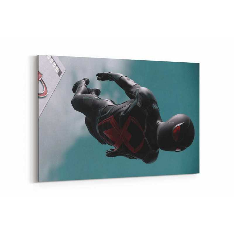 Black Suit Spiderman Kanvas Tablo