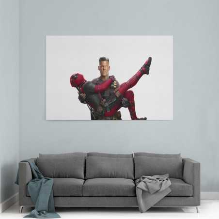 Cable and Deadpool Kanvas Tablo
