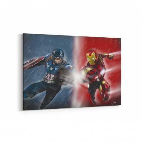 Captain America vs Deadpool Kanvas Tablo