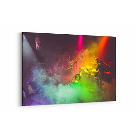 Renkli Konser Kanvas Tablosu