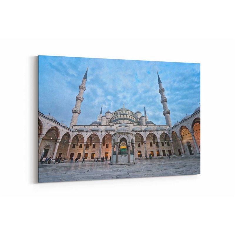 Sultan Ahmet Camii Avlusu Kanvas Tablosu