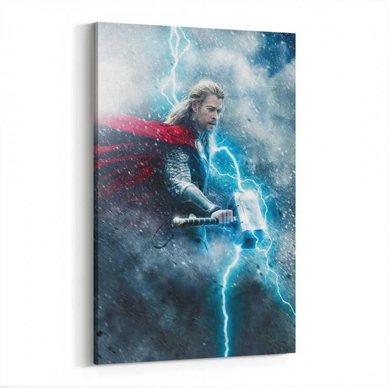 Thor Karanlık Dünya Film Afişi Kanvas Tablo
