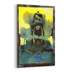 Sulu Boya Dini Kaligrafi Kanvas Tablosu