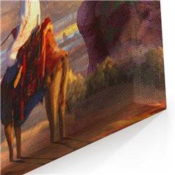 Yağlı Boya Görünümlü Cami Kanvas Tablosu