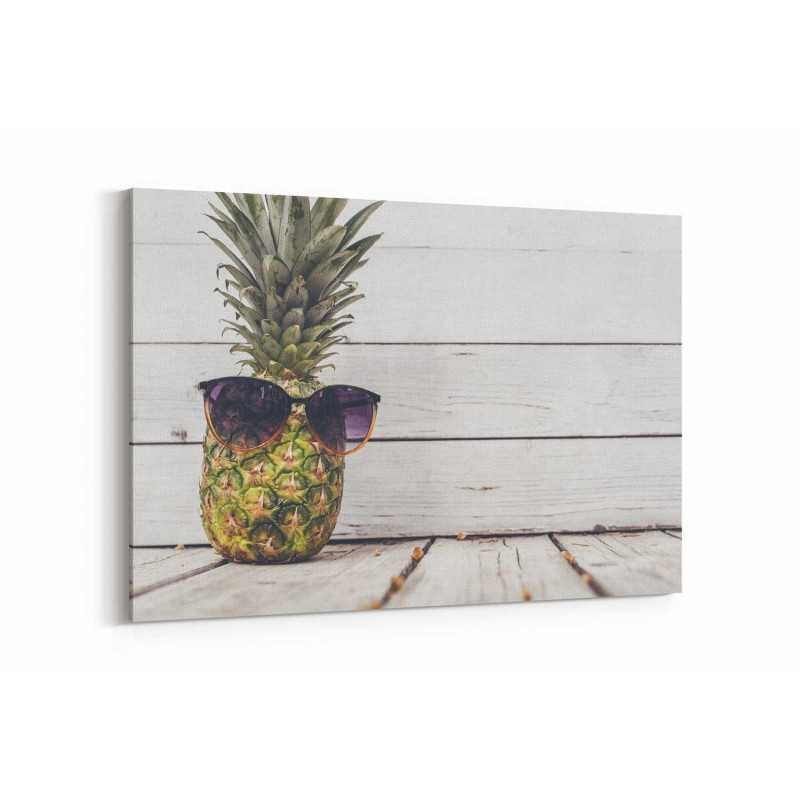 Sonbaharda Gözlüklü Ananas Kanvas Tablo