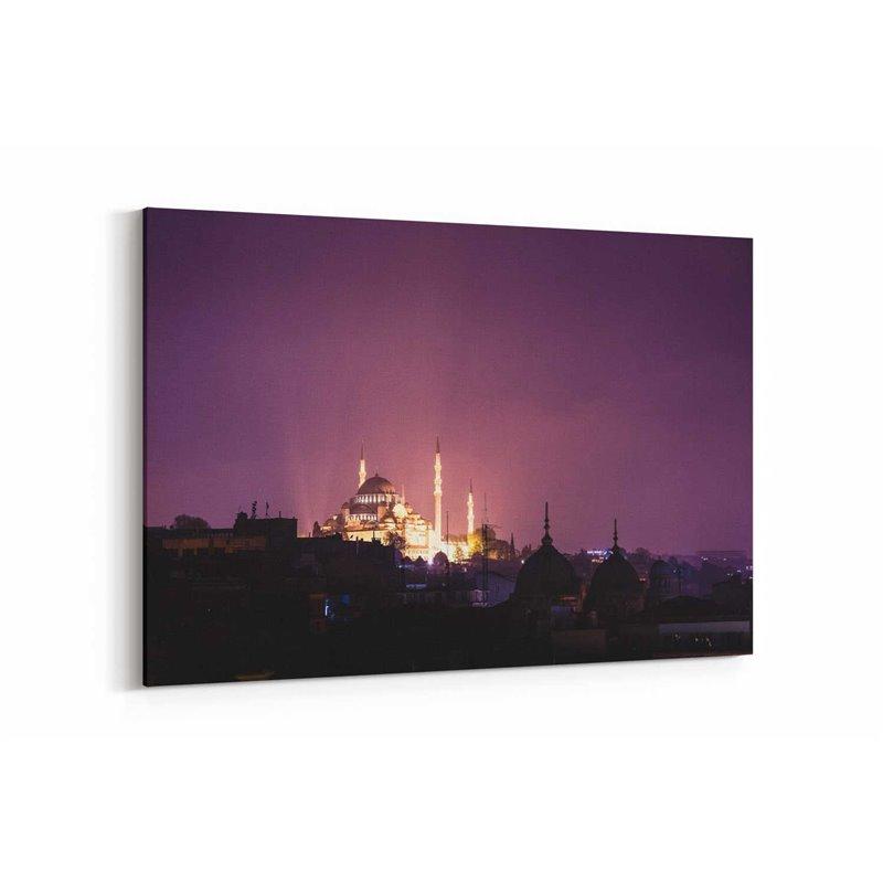İstanbul Cami Manzarası Kanvas Tablosu