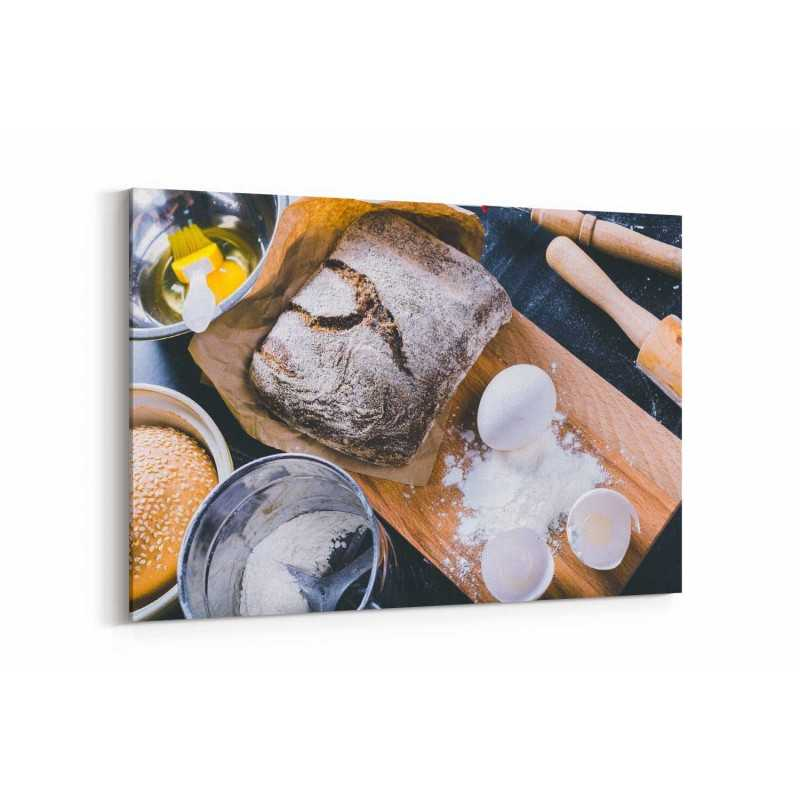 Taze Siyah Ekmek Kanvas Tablo