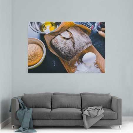 Siyah Ekmek ve Hamburger Ekmeği Kanvas Tablo