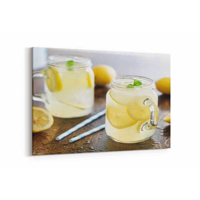 Taze Limonata Kanvas Tablo