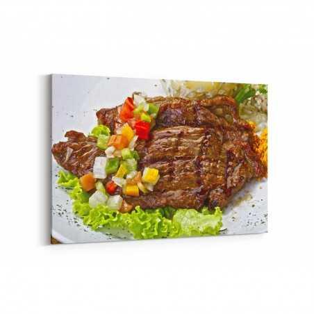 Sebzeli Biftek Kanvas Tablo