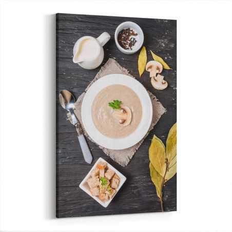 Kremalı Mantar Çorbası Kanvas Tablo