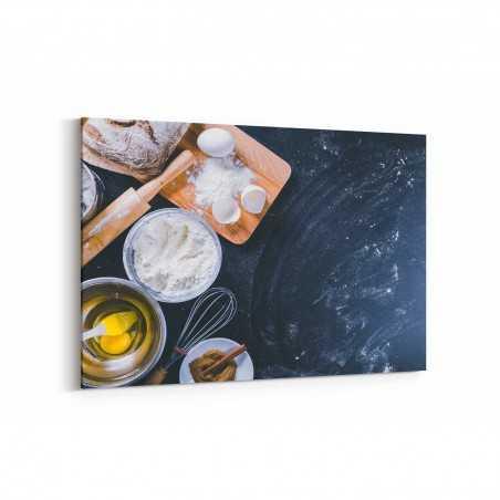 Tarçınlı Siyah Ekmek Kanvas Tablo