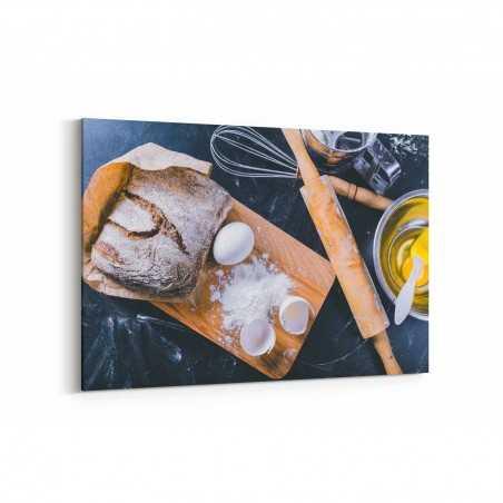Yumurtalı Ekmek Kanvas Tablo