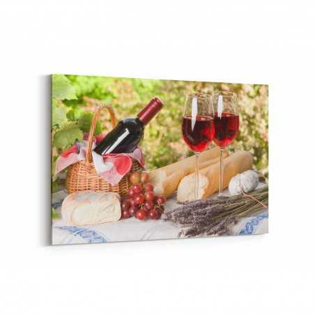 Şarap Bağlarında Şarap Keyfi Kanvas Tablo